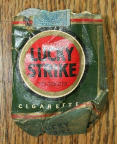 LUCKY STRIKE RARE WW2 ORIGINAL CIGARETTE PACK
