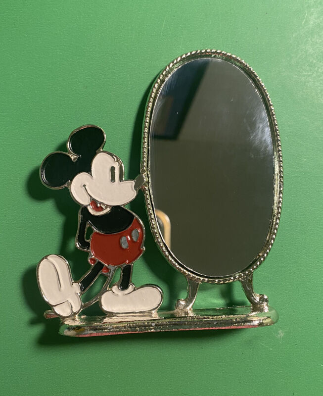 Vintage Walt Disney Classic Pie Eye Mickey Mouse Mirror (b21)