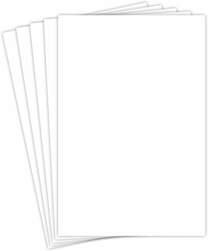 """13 x 19"""" Fine Card Stock - White 80lb (216gsm) Smooth Cover - 50 Sheets"""
