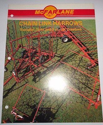 Mcfarlane Chain Link Harrows Sales Brochure Literature Sauk City Wi Advertising