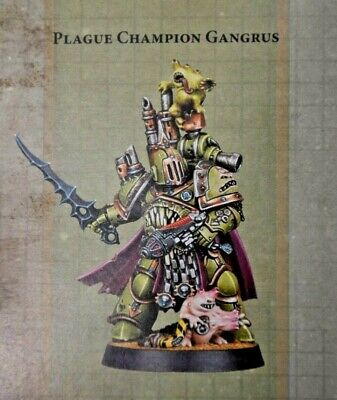 Warhammer 40k Chaos Space Marine Death Guard Plague Marine Champion Gangrus *NiB