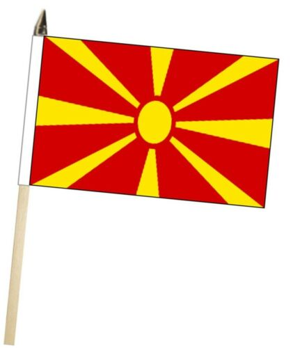 North Macedonia Large Hand Waving Courtesy Flag