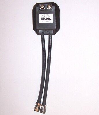 MT-1007 300-Ohm Input to Two 75-Ohm Outputs VHF/UHF TV Antenna Signal Splitter