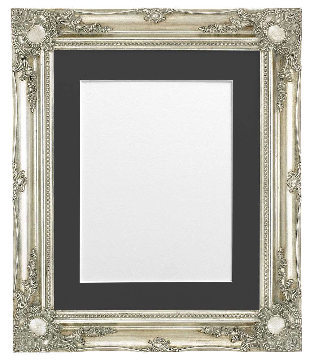 3 Inch Ornate Antique Effect Wood Picture Photo Frames & Mount in ...