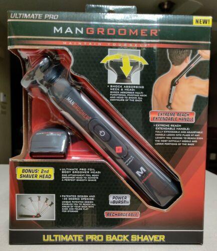 MANGROOMER Ultimate Pro Back Shaver with 2 Shock Absorber Fl