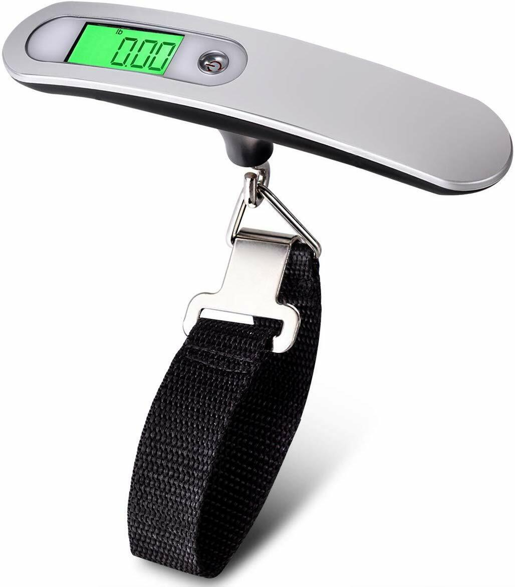 portable travel lcd digital hanging luggage scale