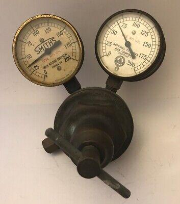 Vintage Dockson Corp Regulator Smiths Welding National Cylinder Gas Co. Gauges