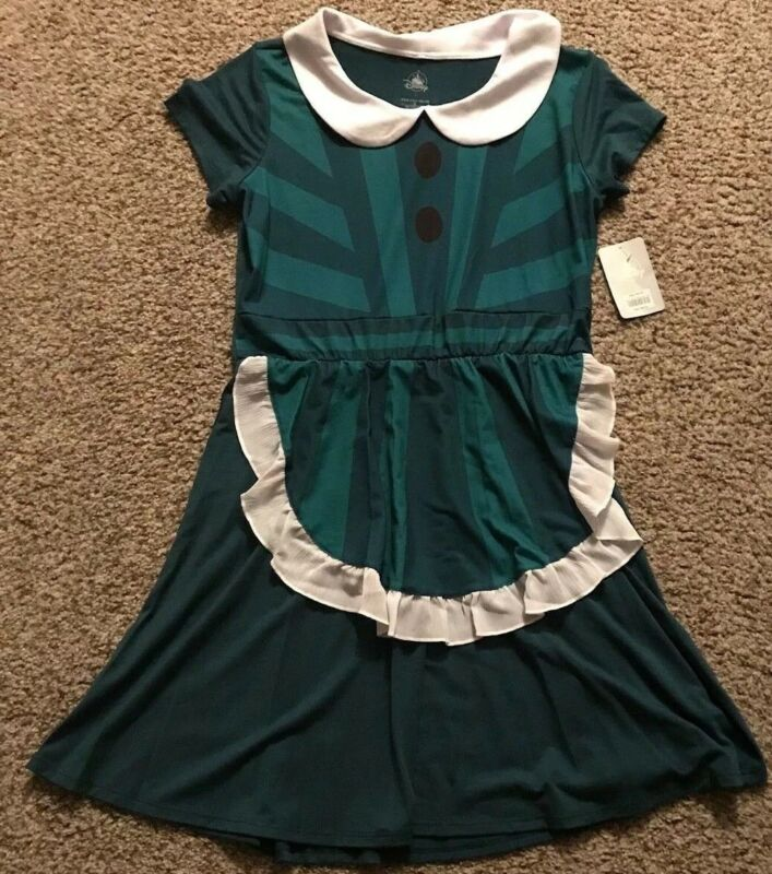 Disney Parks Haunted Mansion Maid Ghost Hostess Halloween Costume Dress Large L