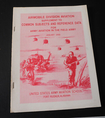 Supp. to Common Subjects and Ref data  Army Aviation School Ft Rucker AL '66