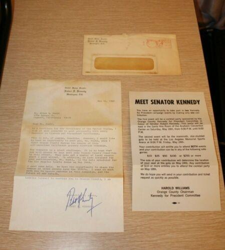 ROBERT F KENNEDY Hand SIGNED Typewritten Letter 05/10/1968 US SENATOR Letterhead