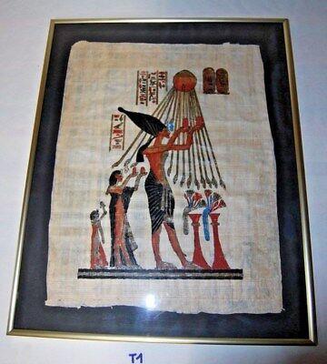 T1 Ancien et rare parchemin - style Egyptien