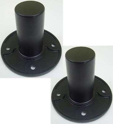 2x Adam Hall SM 702 Boxenflansch Einbauflansch für 35 mm Stative, Flanschbuchse