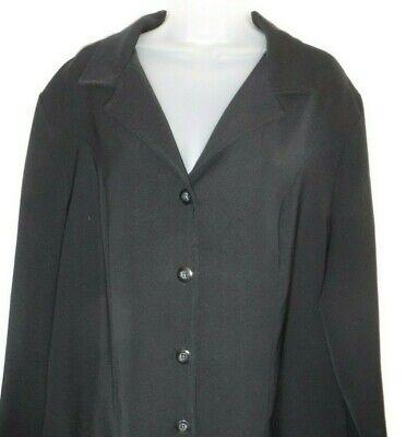 Women's size 16W black button down long sleeve v-neck  jacket / blazer (Briggs)
