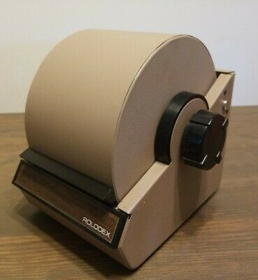 Vintage Tan Brown Metal Rolodex Model 2254d Made In U.s.a. No Key.
