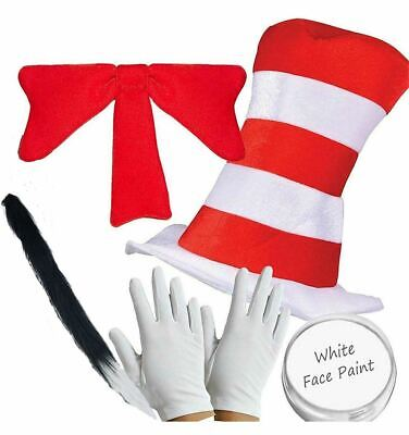 Crazy Cat Costume (Adults Cat in the Hat Kit World Book Day Week Crazy Cat Costume Fancy)