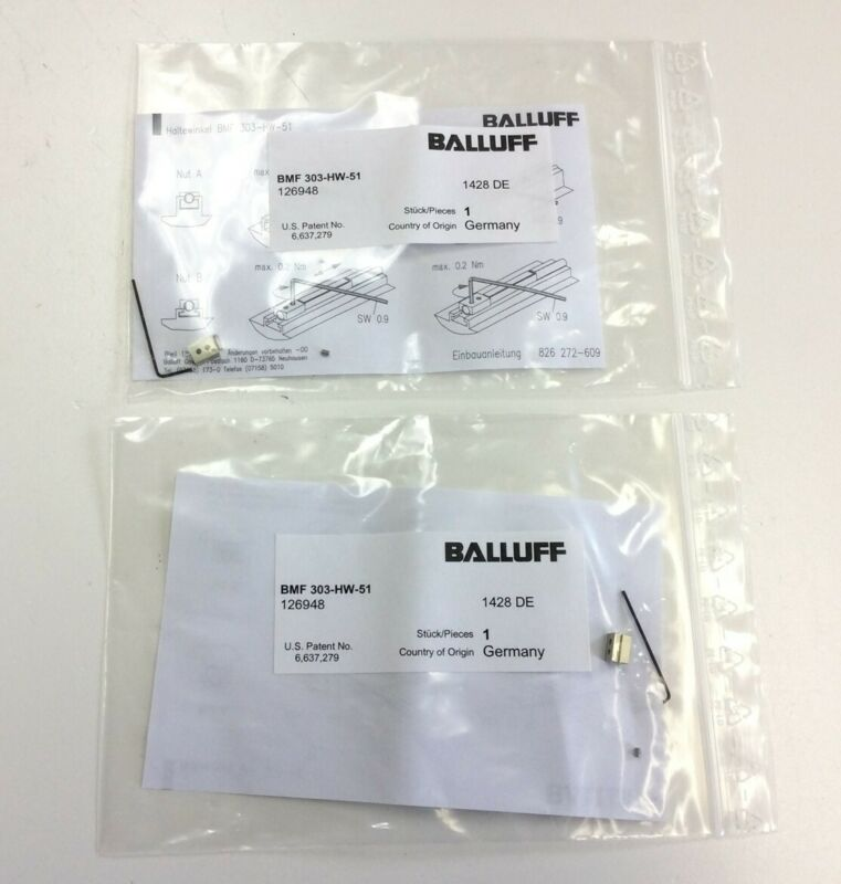 Lot of 2 Balluff BMF 303-HW-51 Magnetic Field Sensor Aluminum Mounting Clamp