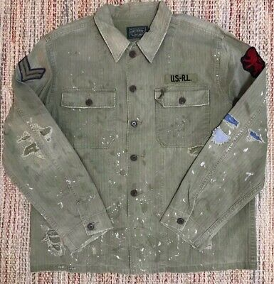 NWT Ralph Lauren Polo Country Military Field Jacket 2XL Patch P-wing Lion Casino