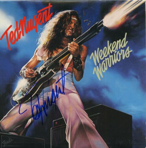 Ted Nugent Weekend Warriors, Signed Vinyl Record MAGA