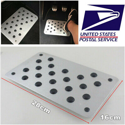 1 Pc Aluminum Alloy Wear-resisting Car Carpet Foot  Pedal Enhance Driving Safety