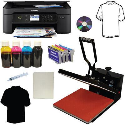 15x15 Heat Press Wireless Printer Bulk Ink Transfer Paper Tshirt Start-up Bundle