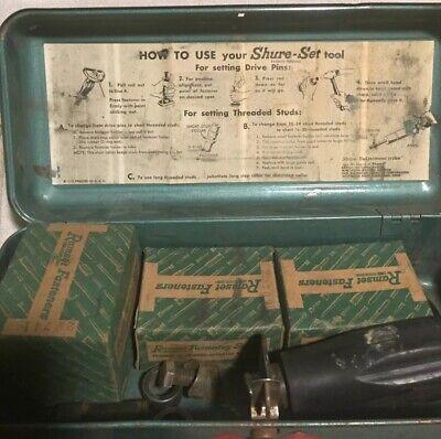 Vintage Ramset Shure Set Fastening Tool Kit Set