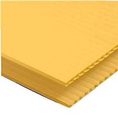 4 Pack 4mm Yellow 24 X 48 Vertical Corrugated Plastic Coroplast Sheets Sign