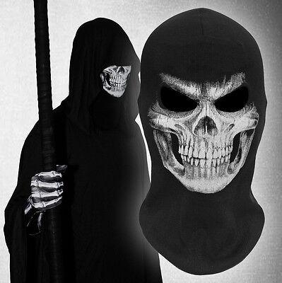 GRIM mask Grim Reaper Ghost Skull Cosplay Costume Balaclava Halloween cotton  - Grim Reaper Mask
