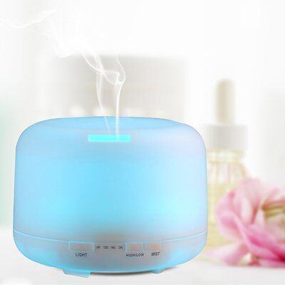 500ML Aroma Essential Oil Diffuser Mist Humidifier Colour Ultrasonic Cool 7 LED