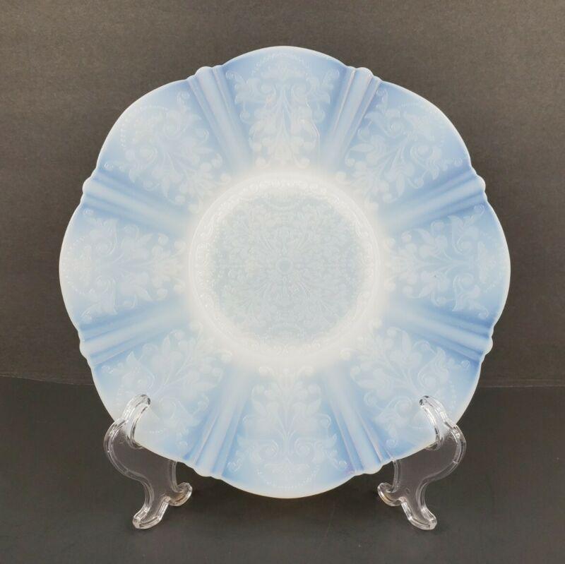 "Macbeth-Evans American Sweetheart Monax 10 3/4"" Opalescent Chop Plate Platter"