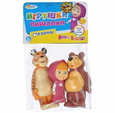 Set of 3 toys for bath Masha and the Bear and Tiger