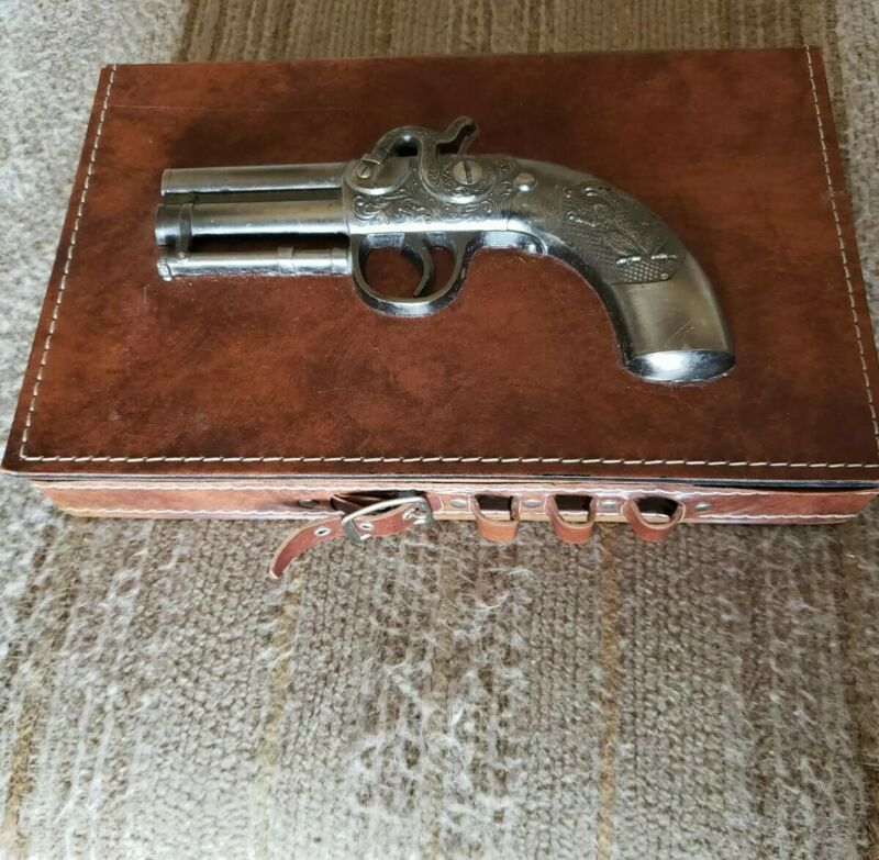 Vintage Antique Collectible Wooden Gun Bullets and Cigar Box Hunting Decor