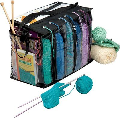 Brand New Knitting Bag Organizer, Crochet Tote Bag for Yarn Storage ()