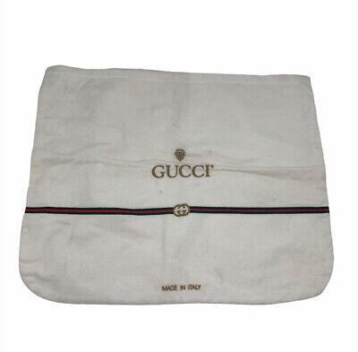 Vintage Authentic GUCCI Dust Cover Bag Medium Large Red Green AF