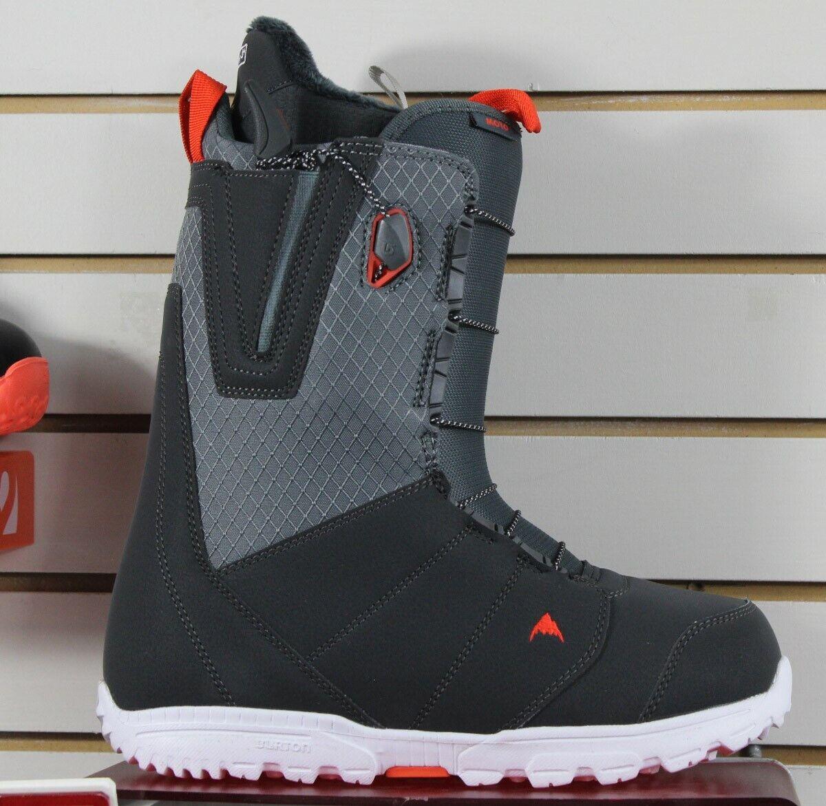 Burton Moto Snowboard Boots Mens Size 13 Grey / Red New 2020