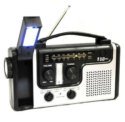 Emergency Solar Hand Crank Weather Radio Flashlight Cell Phone Charger Usb