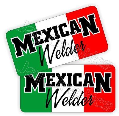 Mexican Welder Hard Hat Stickers Mexico Welding Helmet Decals Funny Mig Tig