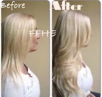 CERTIFIED HAIR EXTENSIONS!! HOT FUSION MICROLINK TAPE IN!!