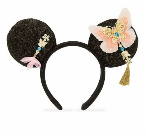 New Disney Parks Lunar Chinese New Year Red Minnie Mouse Head Band Ears