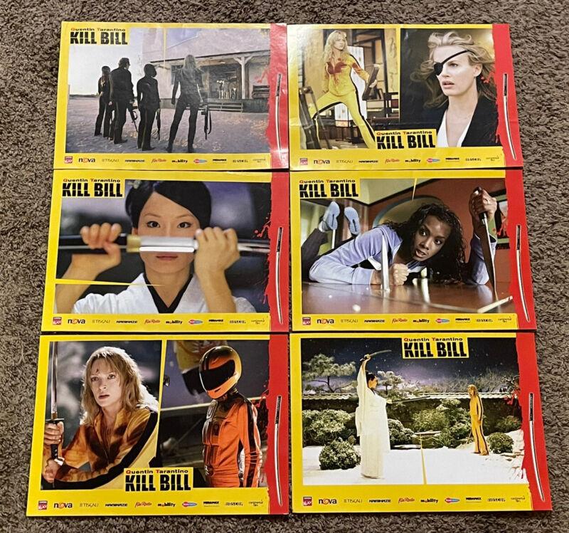 (6) 2003 KILL BILL Czech Movie Lobby Cards, 8 1/2 x 12