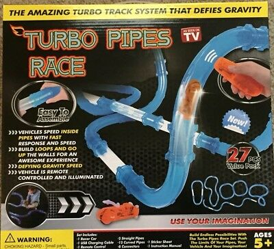 (Turbo Pipes Remote Control Speed Racing As Seen On TV Car Toy Zoom Building Set)