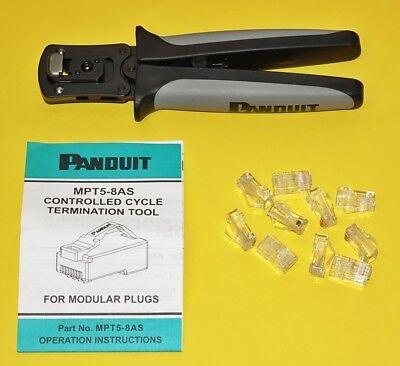 Panduit Mpt5-8as Termination Tool For Modular Plugs With Mp588 Rj45rj-45lan