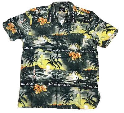 HUF Venice Woven Shirt Mens Short Sleeved Summer Retro Style Brand New All Sizes