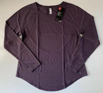 Under Armour Women's Open Back Whisperlight Long Sleeve Shirt 1324128 Purple L