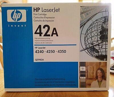 (GENUINE HP HEWLETT PACKARD LASERJET BLACK PRINT CARTRIDGE 42A Q5942A NEW SEALED)