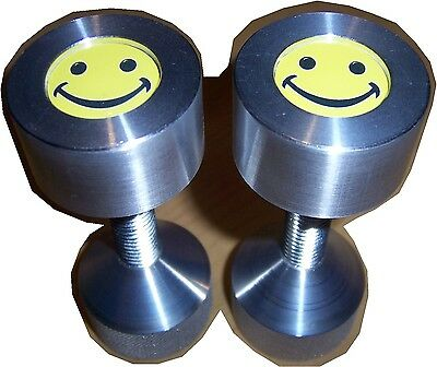 Two Hole Pins Custom Smiley Face. 2 Hole Flange Pins 12 To 1-58 Knurled