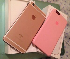 Rose gold iPhone 6s Plus 64 GB+2 year Apple care