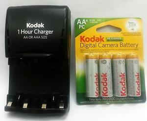 1 kodak 1 hour charger aa aaa 4 aa rechargeable batteries. Black Bedroom Furniture Sets. Home Design Ideas