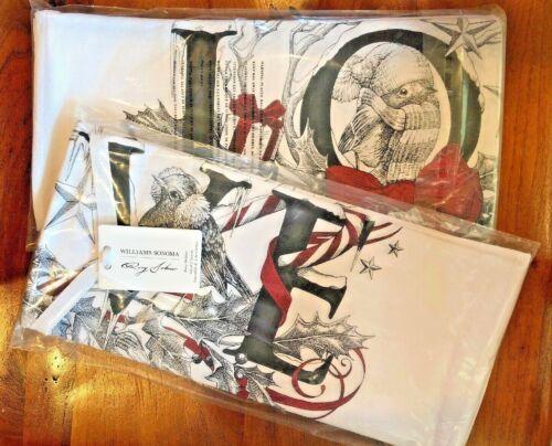 WILLIAMS SONOMA Rory Dobner LOVE KITCHEN TOWELS set/2 Christmas NEW