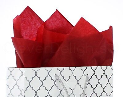 100 Pack - Red Tissue Paper - 20