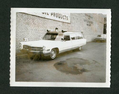 Vintage Polaroid Photo 1966 Cadillac Custom Ambulance 425118